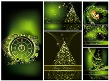 Merry Christmas background collections Royalty Free Stock Photos