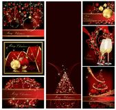 Merry Christmas background. Collections gold and red royalty free illustration