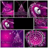 Merry Christmas background. Collections silver and violet royalty free illustration