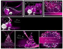 Merry Christmas background collections Royalty Free Stock Photography