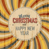 Merry Christmas background with colorful rays Stock Images
