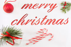 Merry christmas background cut of paper Stock Photos