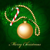Merry Christmas Background with decorated christma. Vector Merry Christmas Background with decorated christmas tree Stock Photos