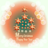 Merry Christmas background with decoration and text - Happy New Year. Stock Photography