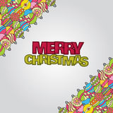 Merry Christmas background design with decoration balls elements. Stock Images