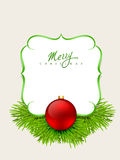 Merry christmas background. Merry christmas design with space for your text Royalty Free Stock Image