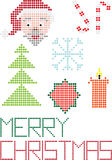 Merry christmas background dots. Color illustration with christmas elements of dots Royalty Free Stock Photos