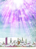 Merry Christmas background. EPS 10. Merry Christmas and New Year holidays background with winter landscape with snowflakes, light, stars. EPS 10 vector file Royalty Free Stock Photo
