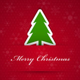 Merry christmas background with fir tree. Stock Photo