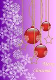 Merry Christmas background gold and red Royalty Free Stock Images
