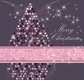 Merry Christmas background. Gray and pink Royalty Free Stock Images