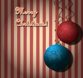 Merry Christmas. Christmas background with сhristmas tree balls Royalty Free Stock Photo