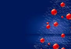 Merry Christmas. Christmas background  illustration blue Stock Photography
