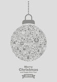 Merry Christmas 2014 background. Illustration of merry Christmas 2014 background with decorative bauble Stock Image