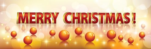 Merry Christmas. Christmas background with an inscription in threedimensional format Stock Photo