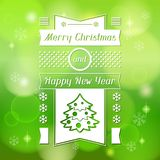 Merry Christmas background for invitation card Stock Images