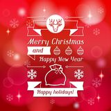 Merry Christmas background for invitation card Royalty Free Stock Photos