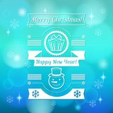Merry Christmas background for invitation card Stock Photos