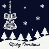 Merry Christmas Background. Snowflake royalty free illustration