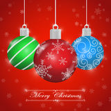 Merry Christmas background with ornament ball Stock Images