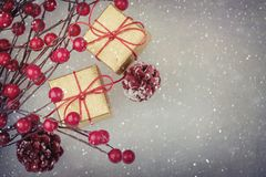 Merry Christmas. Background christmas ornaments Stock Images