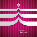 Merry Christmas Background. Pink, Violet, Purple Abstract Vector Merry Christmas Cardboard Background Stock Photography