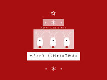Merry Christmas. Christmas background with reindeer and wishes in a shape of Christmas tree Royalty Free Stock Photography