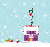 Merry christmas background with santa claus Royalty Free Stock Image