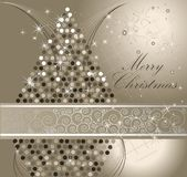 Merry Christmas background. Silver Merry Christmas background with stars Stock Photo