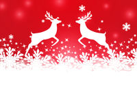 Merry Christmas background with snowflakes Royalty Free Stock Image