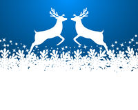 Merry Christmas background with snowflakes Stock Photography