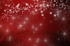 Merry Christmas background snowflakes and stars Royalty Free Stock Photo