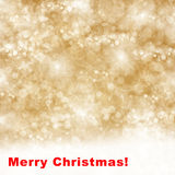 Merry christmas  background with sparkles. Merry christmas golden background with bright  sparkles and lights Royalty Free Stock Images