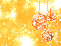 Merry Christmas background with stars. EPS 8. Merry Christmas background with stars, bokeh lights and Christmas balls. And also includes EPS 8 Stock Photos
