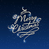 Merry Christmas background with stars. And shining elements. Vector illustration Stock Photo