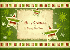 Merry Christmas Background with stars snowflakes Stock Photography