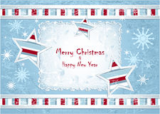 Merry Christmas Background with stars snowflakes Royalty Free Stock Photo