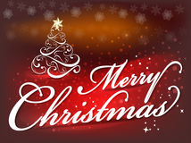 Merry Christmas background text background with tree Stock Photos