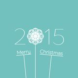 Merry Christmas 2015 Background. Merry Christmas 2015 Text Design. Vector ornamental background Royalty Free Stock Images