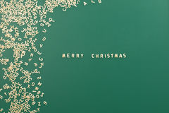 Merry Christmas background text made of pasta Stock Photo