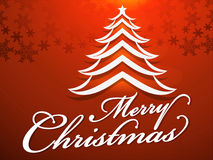 Merry Christmas background text style Stock Photography