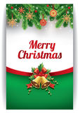Merry christmas background with traditional straw decorations  Royalty Free Stock Images