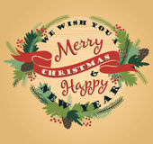 Merry Christmas background with Typography. Stock Images