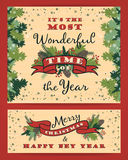 Merry Christmas background with Typography. Stock Photo