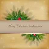 Merry Christmas Background. Vector Royalty Free Stock Photography