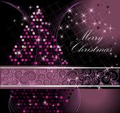 Merry Christmas background. Violet an silver Royalty Free Stock Photos
