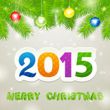 Merry Christmas 2015 Background. Merry Christmas 2014 White Background stock illustration