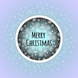 Merry Christmas background with white snowflakes. Stock Photos
