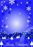 Merry christmas background with winter landscape Stock Image