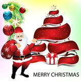 Merry christmas background wit santa claus Royalty Free Stock Image